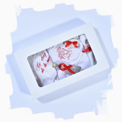 haine bebelusi - trusou botez 6 piese ingeras12 420x420 - Haine bebelusi-Trusou botez sase piese rosu cu ingeras