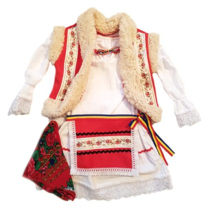 haine bebelusi - costumas tratidional fetite rochita traditionala bebelusi 420x420 - Haine bebelusi-Costum traditional fete, 4 piese