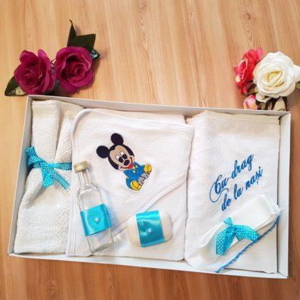 trusou botez - trusou botez mikey bebelusi 420x420 - Trusou botez 6 piese, albastru Mickey Mouse