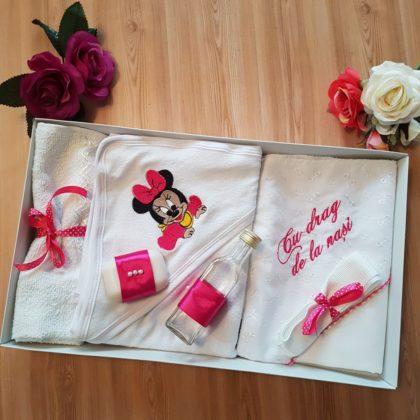 trusou botez - trusou botez minnie bebelusi 420x420 - Trusou botez 6 piese, roz Minnie Mouse