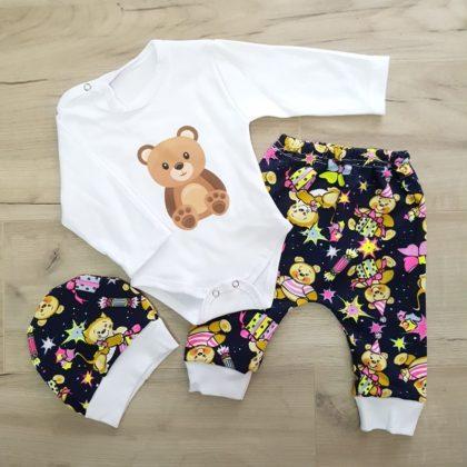 costumas bumbac bebelusi - costumas 3 piese bumbac ursulet bebelusi copii 420x420 - Costumas bumbac Ursulet 3-12 luni