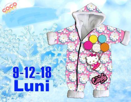 combinezon fas - combinezon fas copii gros roz iarna bebelusi 420x329 - Combinezon fas imblanit Hello Kitty roz