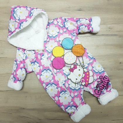 combinezon fas - combinezon fas vatuit roz pisicuta bebelusi copii toamna iarna12 420x420 - Combinezon fas imblanit Kitty roz