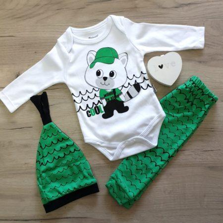 costumas bumbac bebelusi - costumas 3 piese verde alb bumbac bebelusi 450x450 - Costumas bumbac 3 piese Ursulet verde haine bebelusi - costumas 3 piese verde alb bumbac bebelusi 450x450 - Haine bebelusi-Acasa