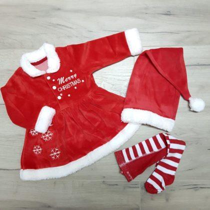 costumas catifea craciunita - costumas craciunita bebelusi copii fetite1 420x420 - Costumas catifea Craciunita Merry Christmas
