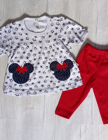 Rochita si pantaloni Minnie 6-12 luni